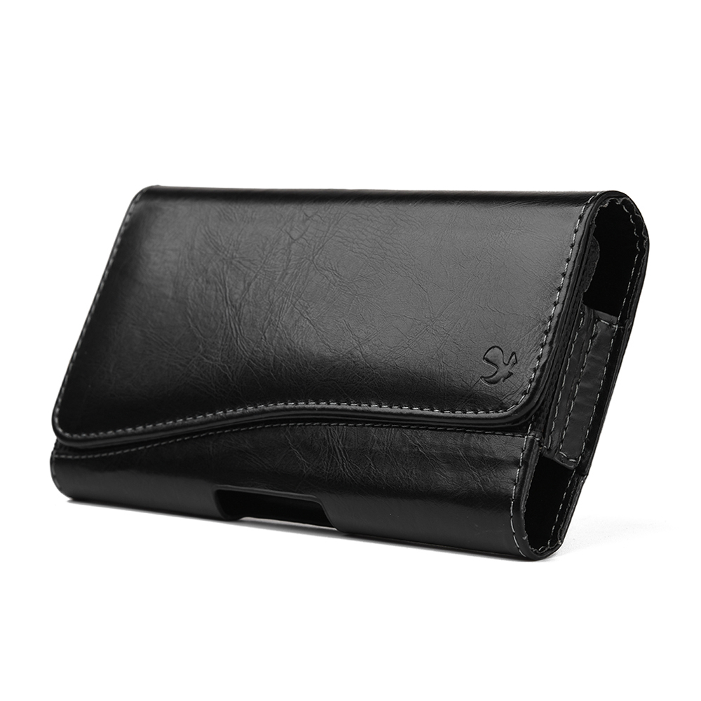 Samsung Galaxy S 4G Leatherette Case Pouch Hidden Closure Black
