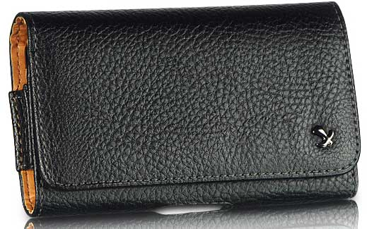 Napa Leather Case Pouch Black