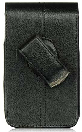 Samsung Droid Charge Vertical Leather Case Pouch Clip Black