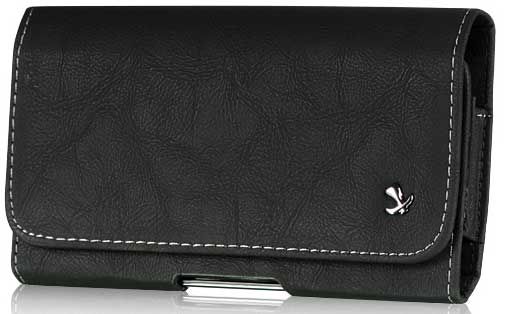 LG G Stylo Bold Leather Case Pouch Black