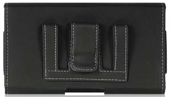 Samsung Galaxy S II (I9100) Bold Leather Case Pouch Black