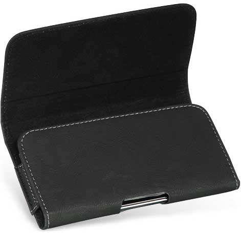 LG Q70 Bold Leather Case Pouch Black