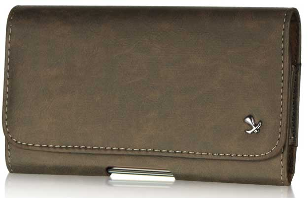Bold Leather Case Pouch Brown