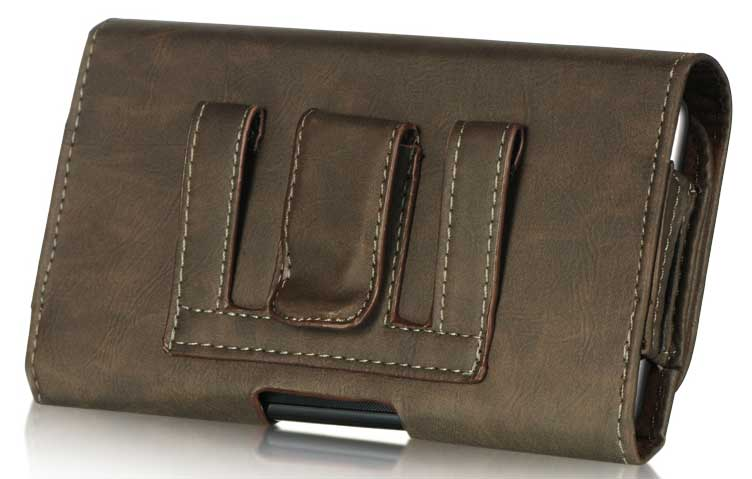 LG Optimus F7 Bold Leather Case Pouch Brown