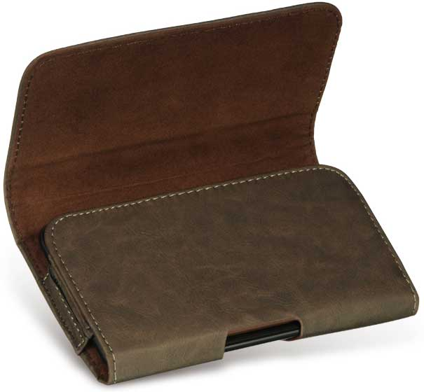 Samsung Epic 4G Bold Leather Case Pouch Brown
