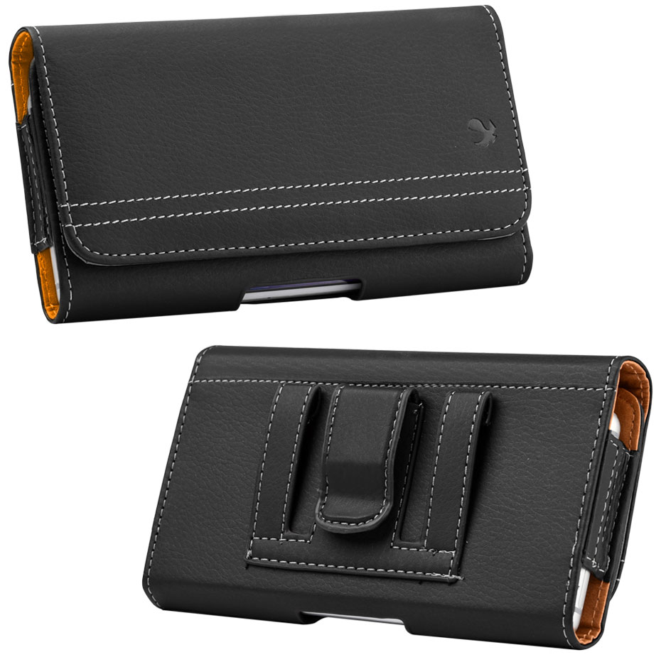 Moto Moto E4 Plus Case Pouch Clip Card Holder Black