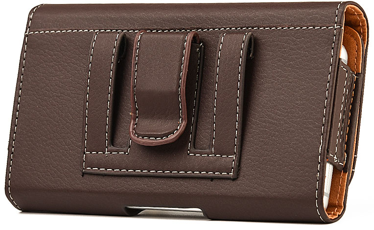Nokia Lumia 1520 Case Pouch Clip Card Holder Brown