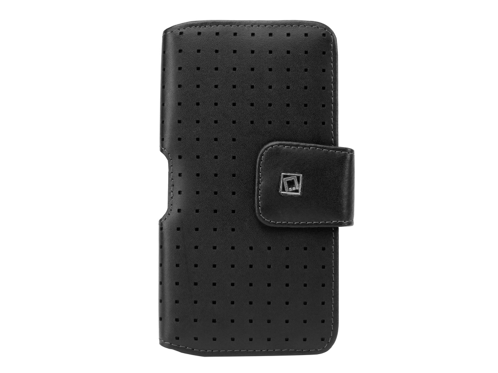 OnePlus 6 Teramo Leather Case Horizontal Swivel Clip Black