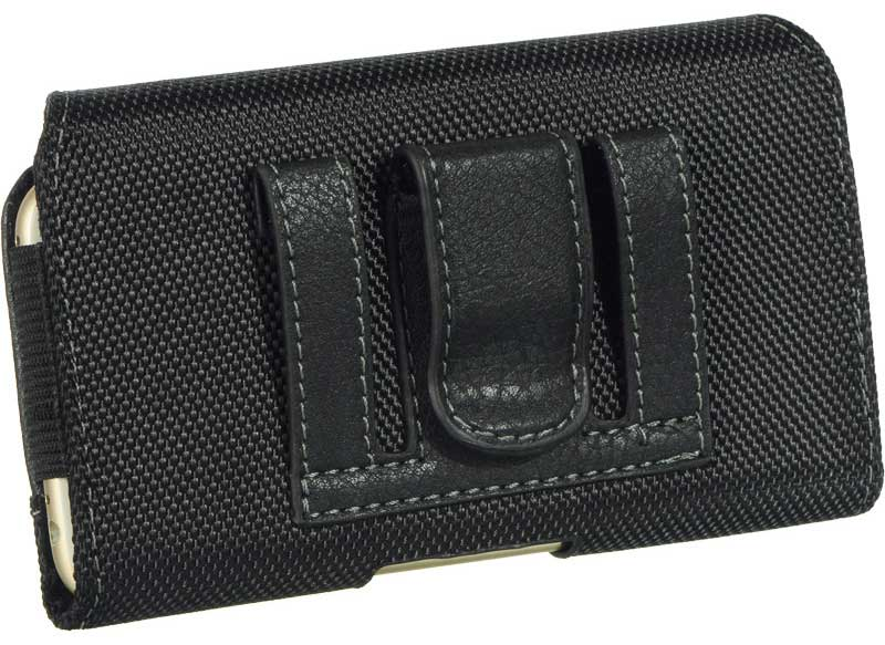 Nokia 6 Leather Fabric Case Hidden Closure Black