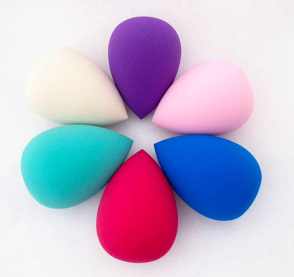 MakeUp Sponge Blender Latex Free Soft Washable With Clear Case Pack Of 6 Multicolor