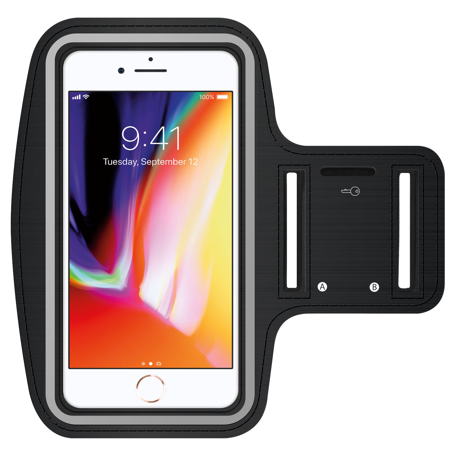 Moto Moto G5S Plus Armband Neoprene Adjustable Black