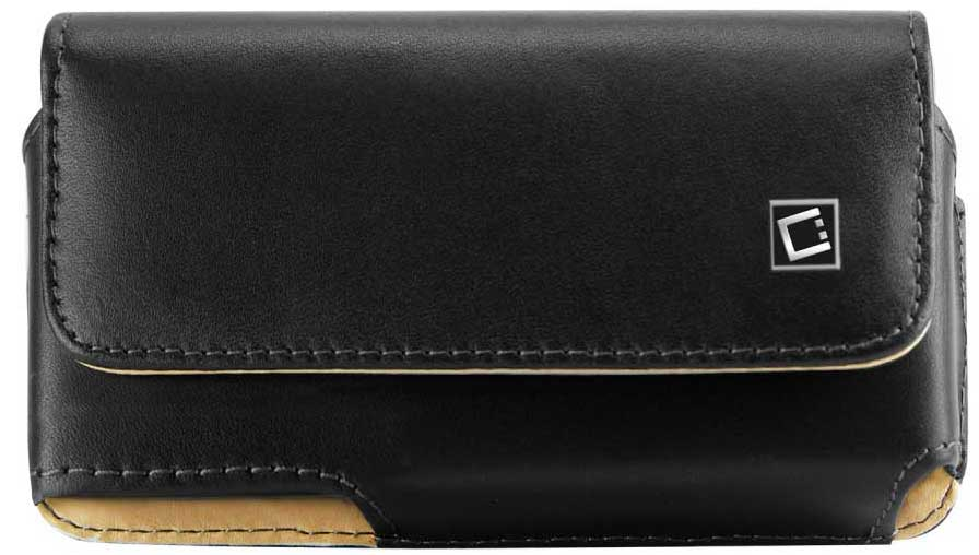 ZTE Majesty Leather Case Pouch 2 Clips Black