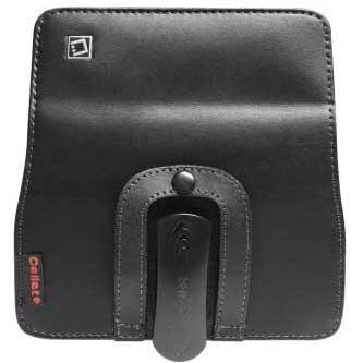 Samsung Epic 4G Touch Leather Case Pouch Removable Clip Black