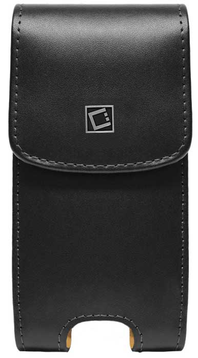 Samsung Infuse 4G Vertical Leather Case Holster Spring & Swivel Clip Black