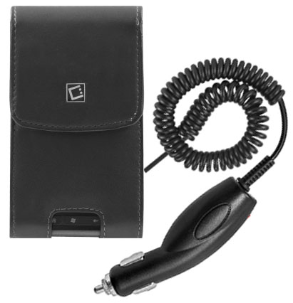 Samsung Infuse 4G Vert Leather Case Holster Rem Clip Black Car Charger