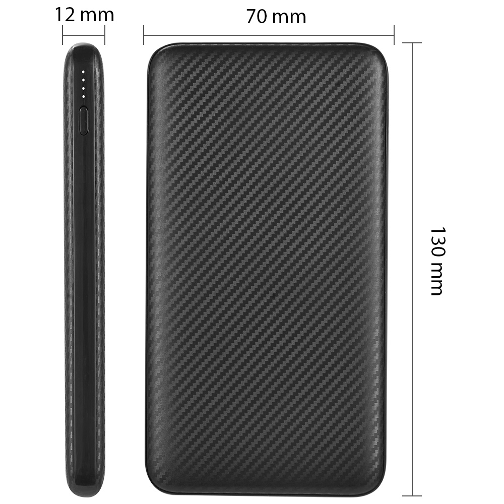 LG Tribute Royal Slim Power Bank Quick Charge Power Delivery Black 10,000mAh