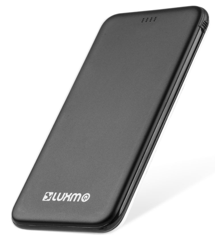 BLU Studio Selfie LTE Ultra Slim Thin Power Bank Black 5,000mAh