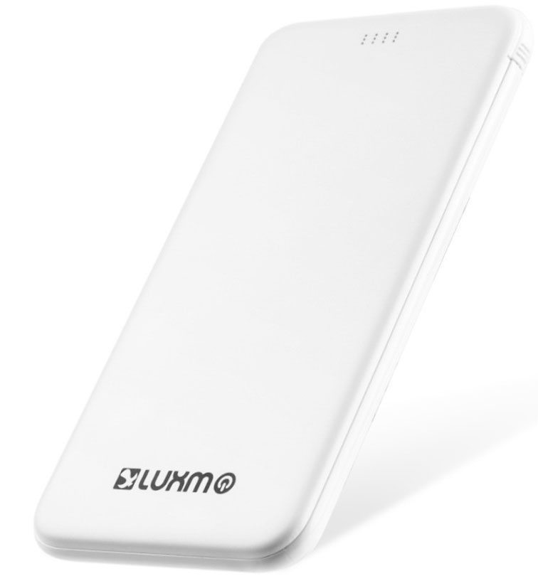 BLU Studio Selfie LTE Ultra Slim Thin Power Bank White 5,000mAh