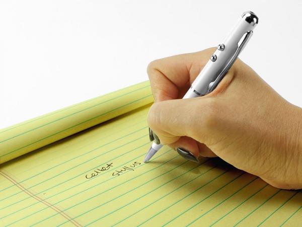 ZTE Grand XMax 4 in 1 Stylus Retractable Pen Laser Pointer Flashlight Silver