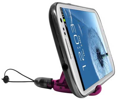 ZTE Avid 4 2 in 1 Stylus With Stand Pink