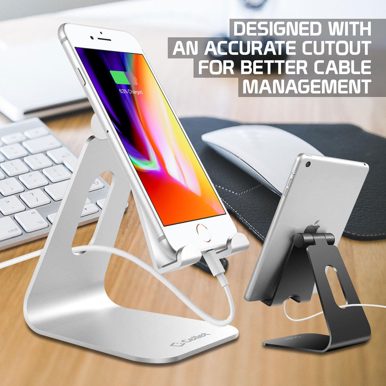 ZTE Blade Spark Aluminum Desktop Stand Foldable Silver