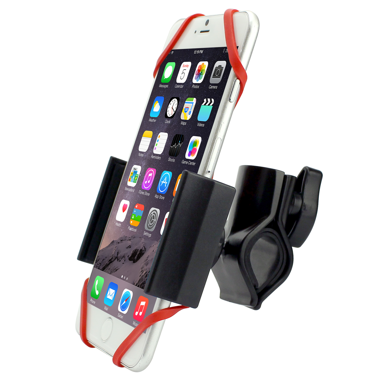 LG Q6 Bike Phone Mount Adjustable Black