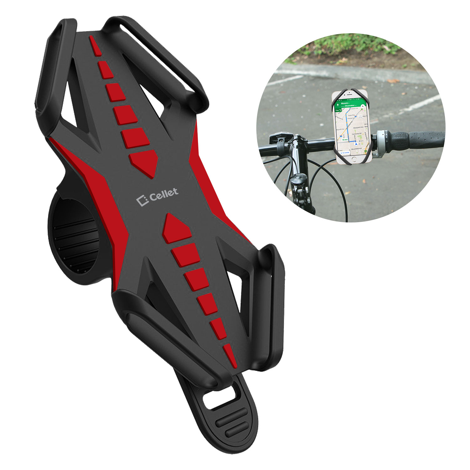 Sony Xperia Z Bike Phone Mount Silicone Red