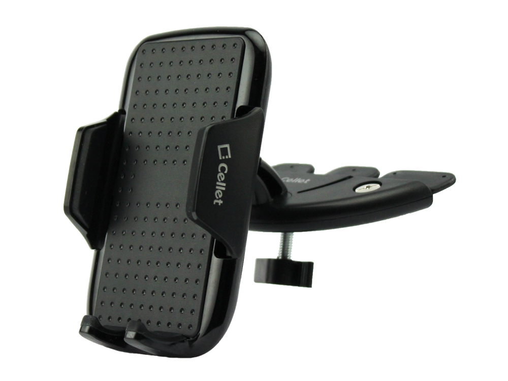 ZTE Max XL CD Slot Car Phone Holder Black