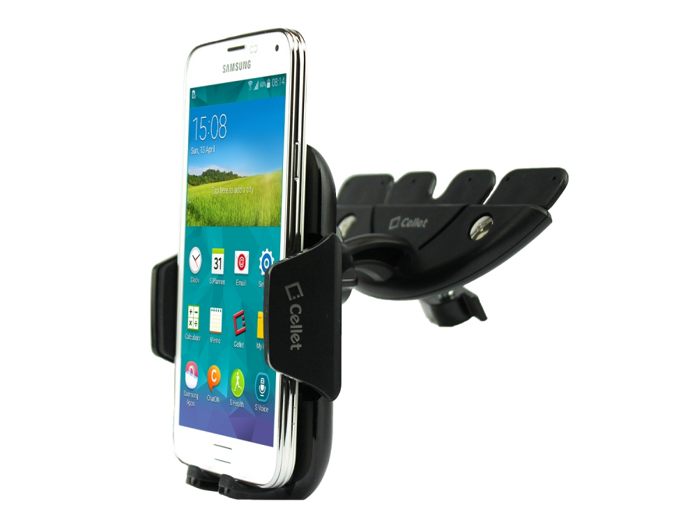 ZTE Blade Spark CD Slot Car Phone Holder Black