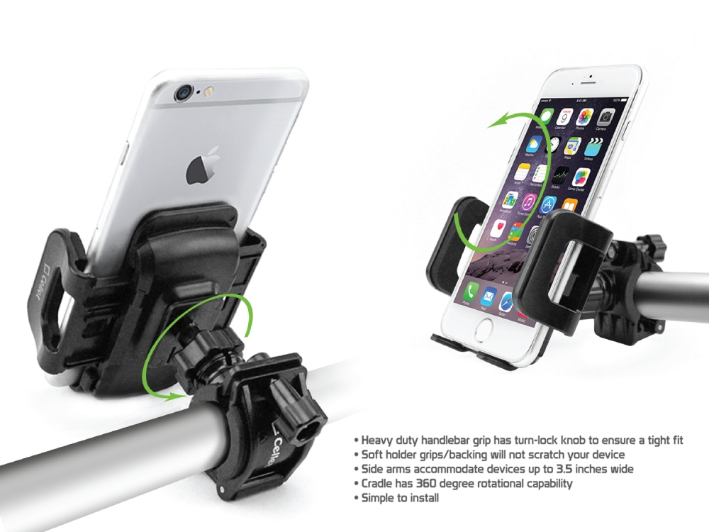 Cricket Icon Smartphone Bicycle Mount Black