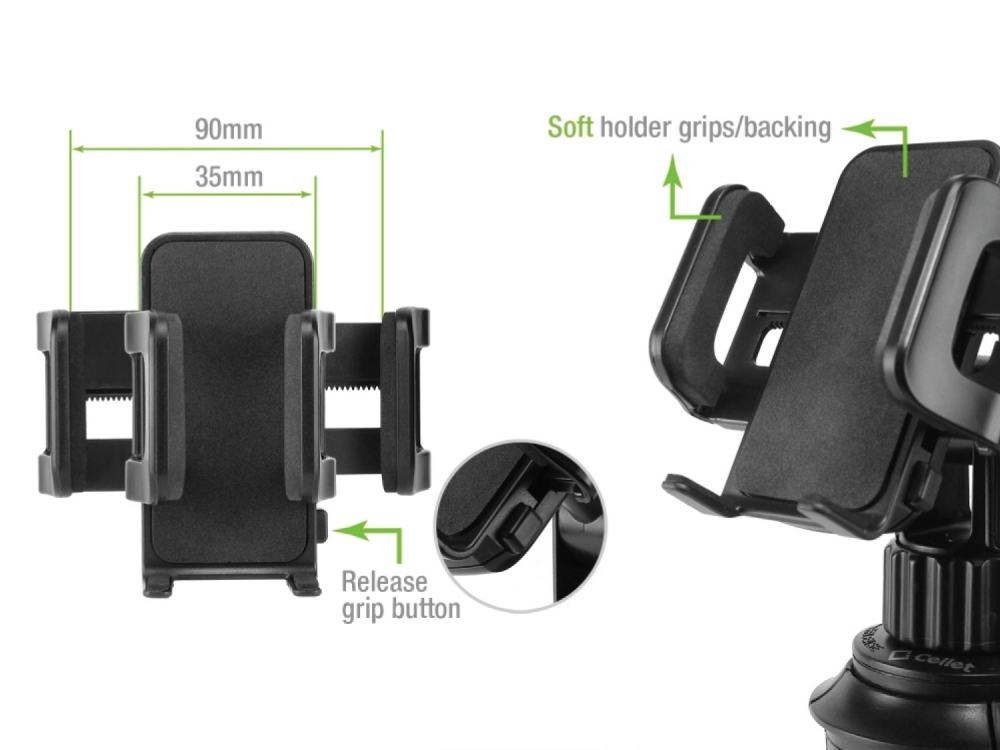 ZTE Blade Spark Smartphone Bicycle Mount Black