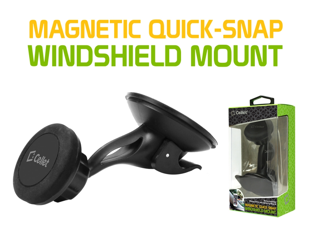 ZTE Blade Spark Magnetic Quick Snap Mount Cradle Black