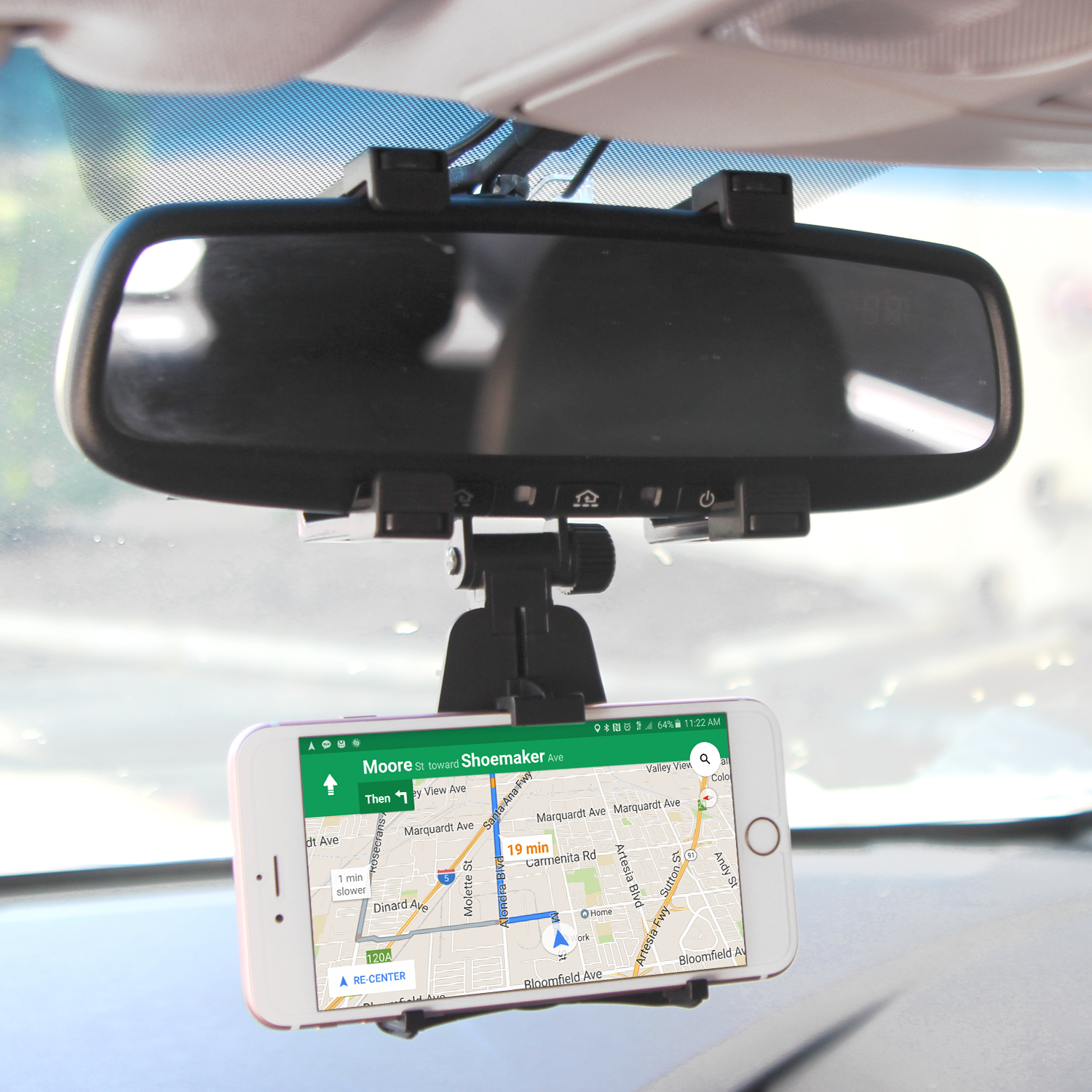 BLU Pure View Rearview Mirror Mount Cradle Black