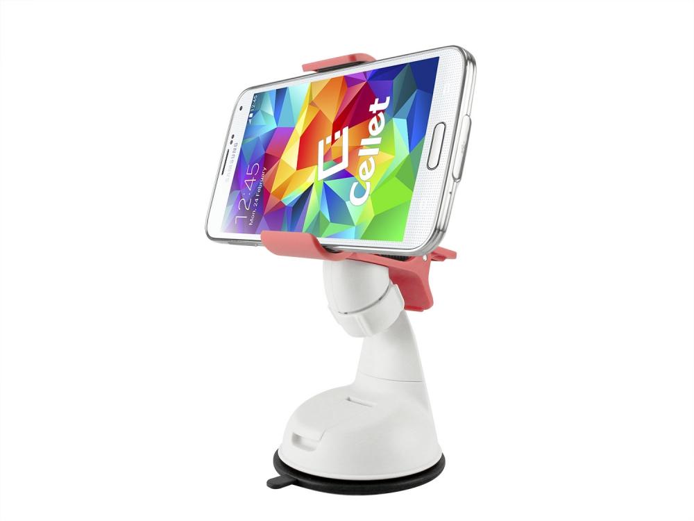 ZTE Blade Spark Dashboard Windshield Clip Phone Holder Pink