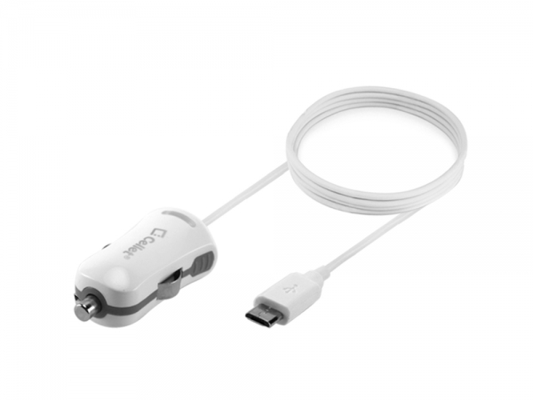 LG Esteem Square Blue Led High Power Car Charger White