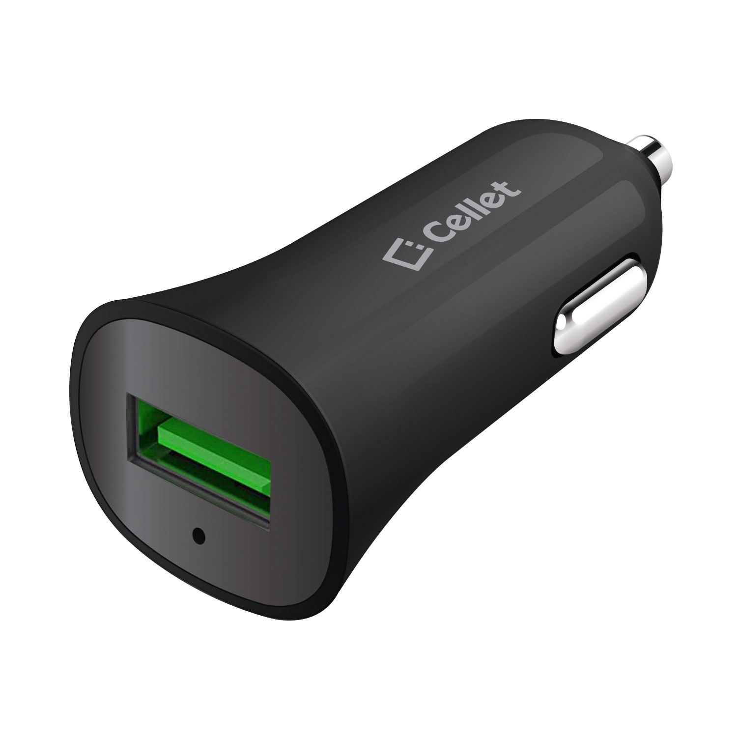 ZTE Aspect Car Charger Quick Charge 3.0 Black 3.3ft
