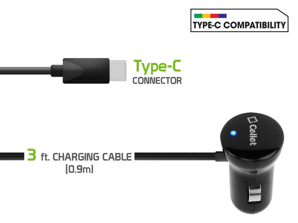 LG G7 ThinQ USB Type-C Car Charger Black