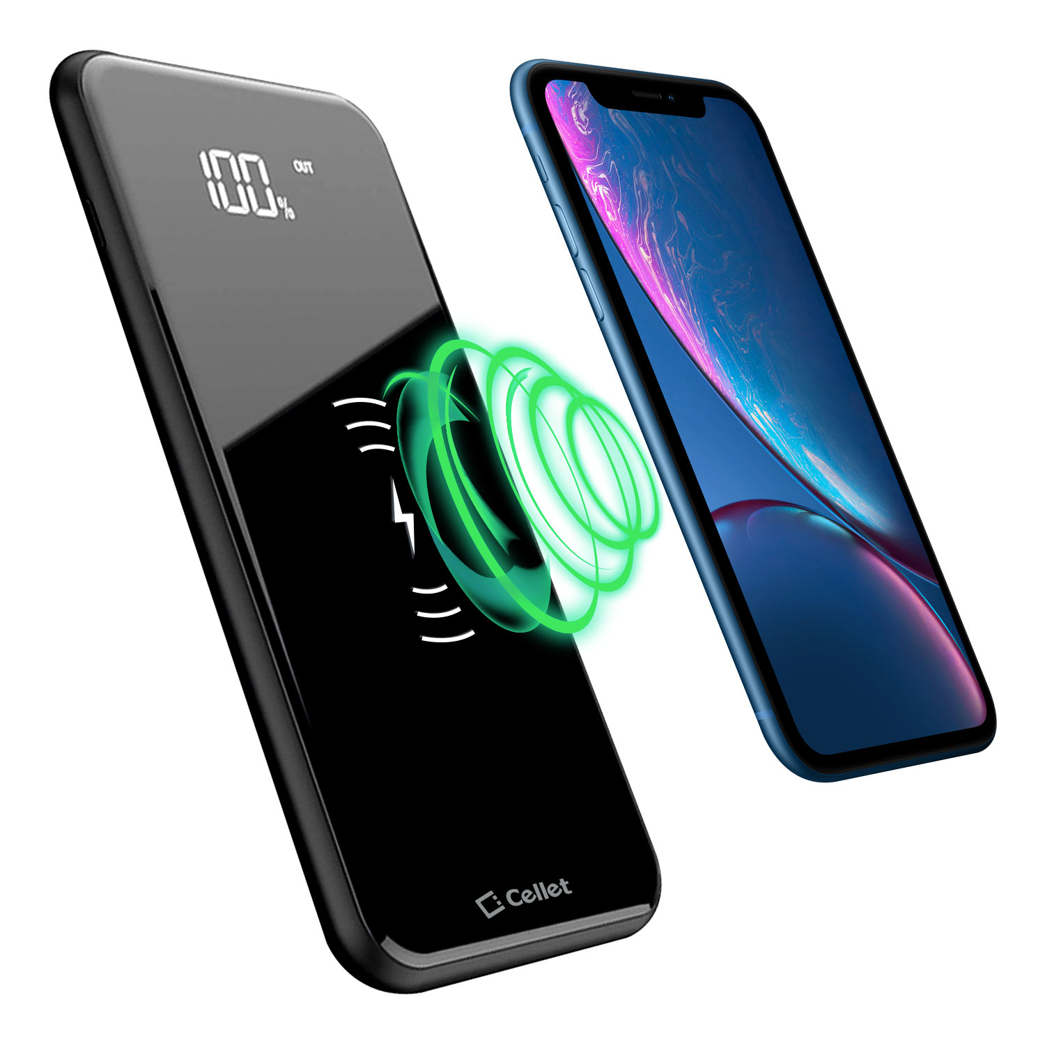 Portable Wireless Charger Power Bank Black 10,000mAh