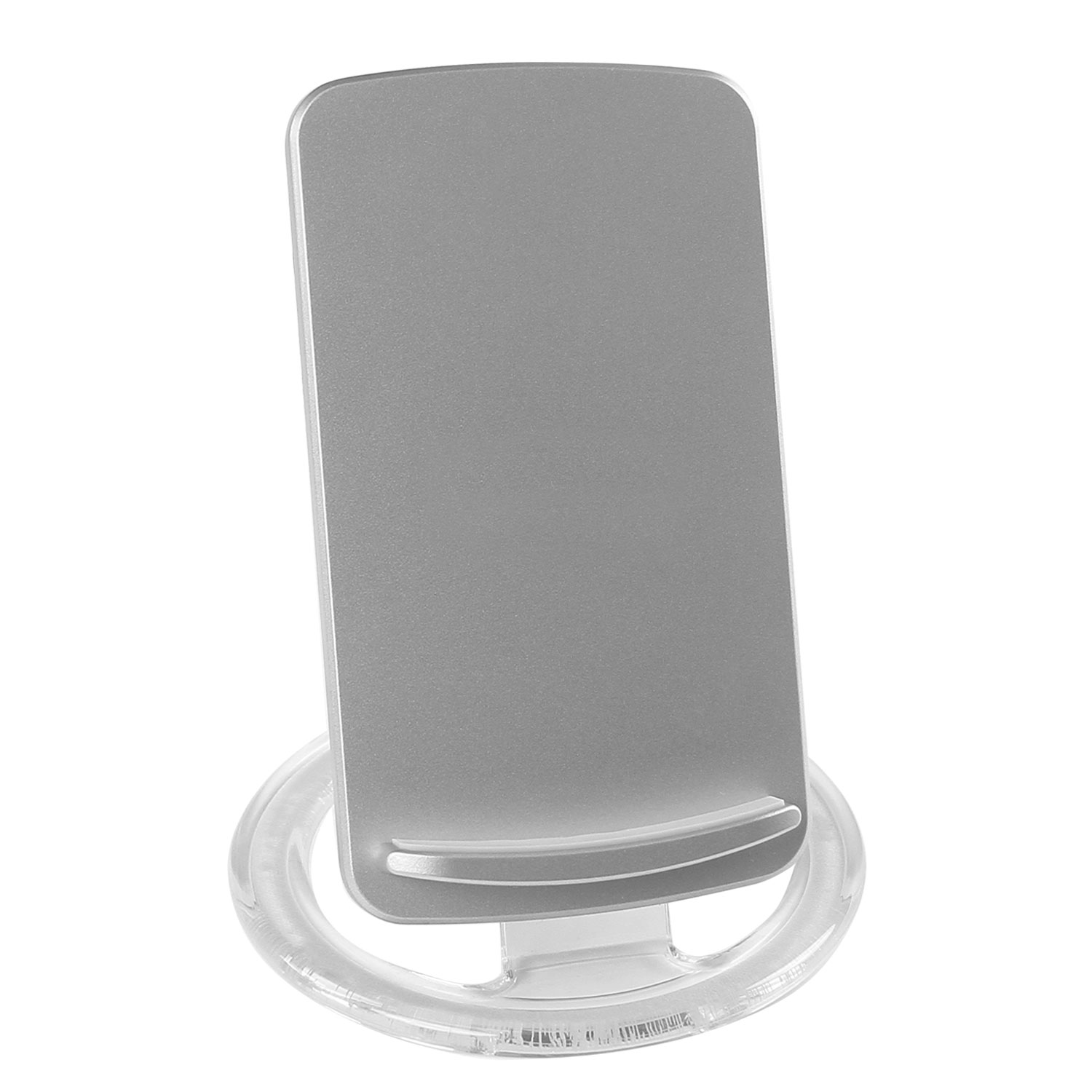 Wireless Desktop Charger Silver