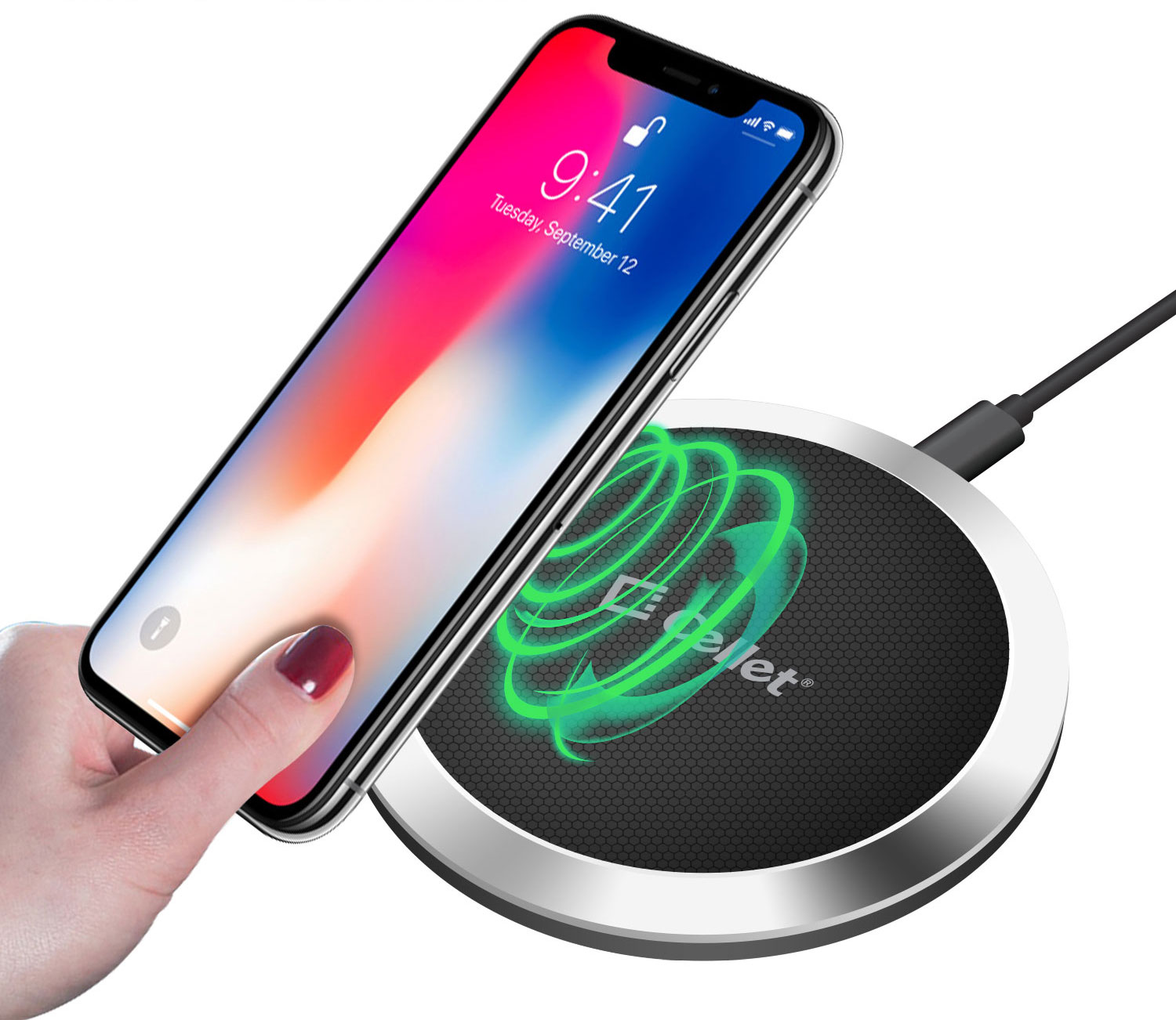 Wireless Charging Pad Round Black