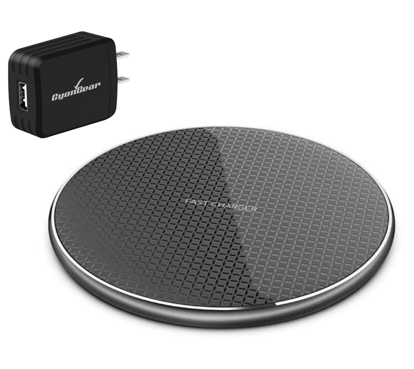 Samsung Galaxy S20 Fast Wireless Ultra-Thin Charging Pad QI 10 Watts Black With AC Charger