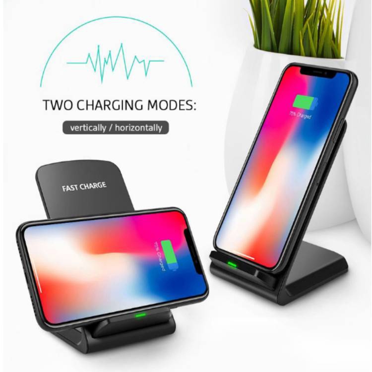 Apple iPhone SE 2020 Fast Wireless Charging Desktop Stand QI 10 Watts Black With AC Charger