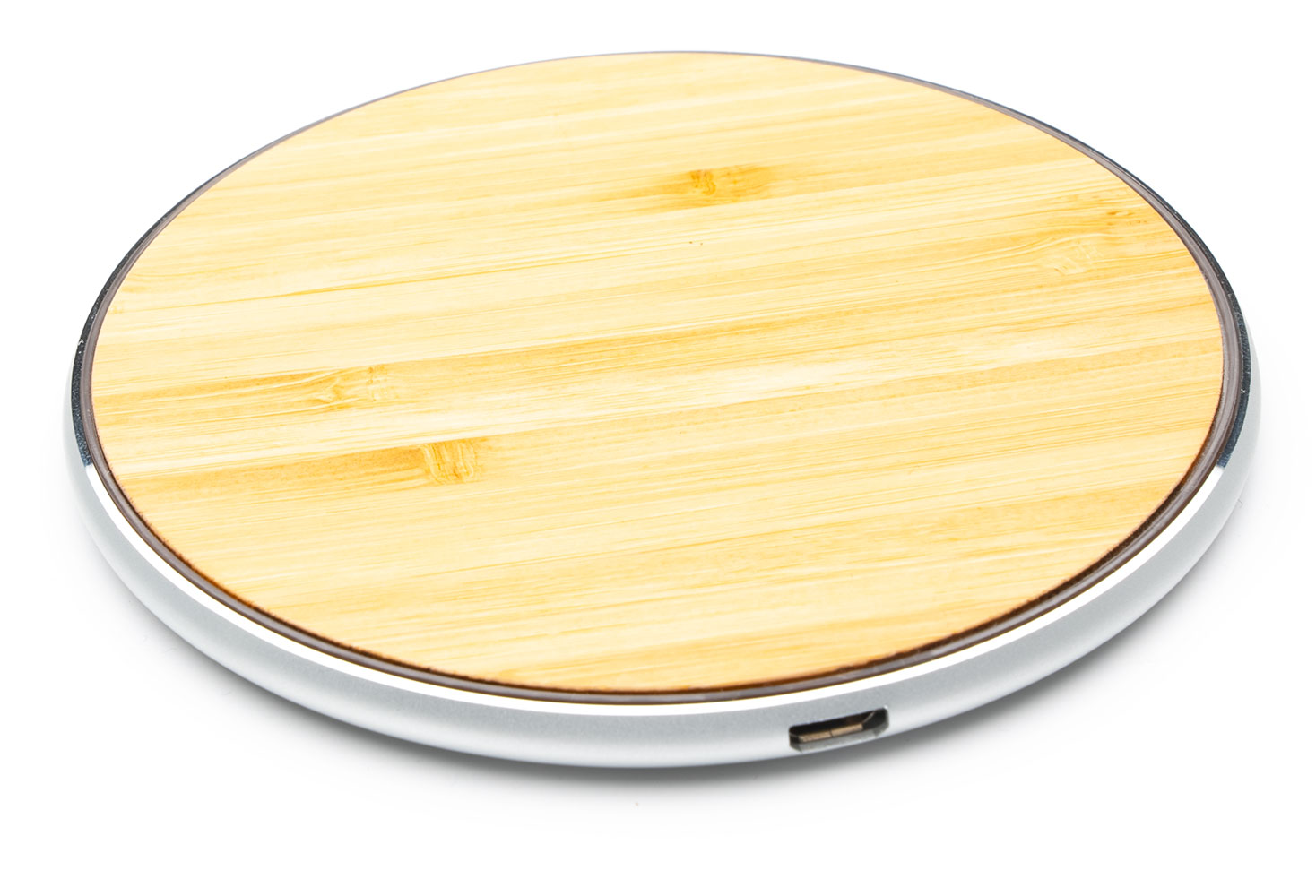 Google Pixel 3 Fast Wireless Charging Pad QI 15 Watts Aluminum Bamboo Wood Top With AC Charger