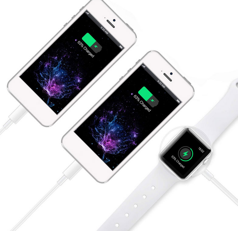 Apple iPhone SE 2020 3 in 1 Dual Lightning And Apple Watch Charger White