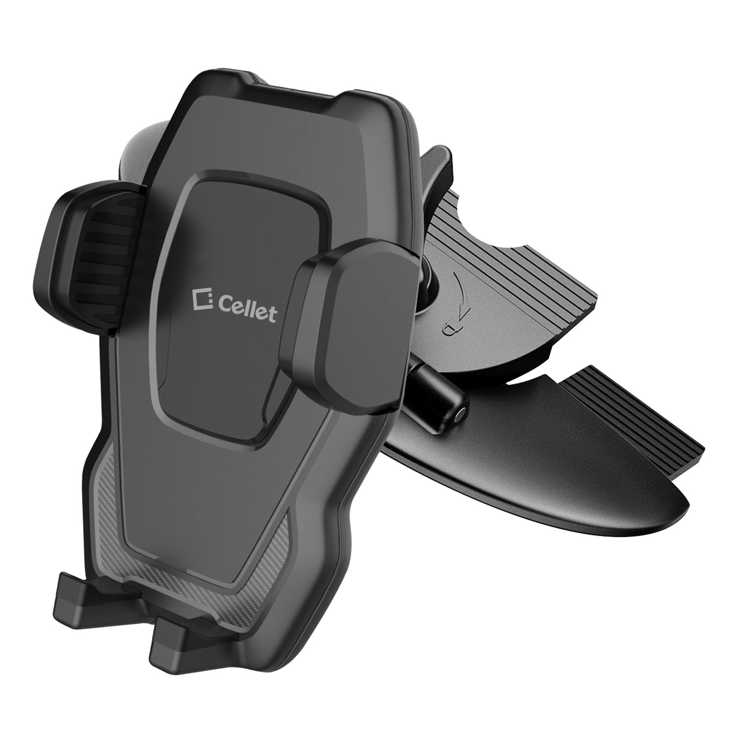 Alcatel Go Flip V CD Slot Car Phone Holder 360 Rotation Black