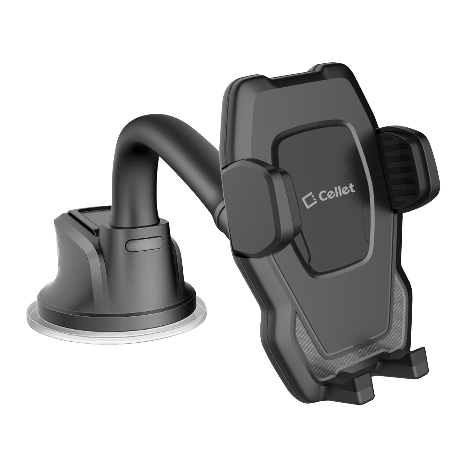LG K40 Windshield Phone Holder Goose Neck Black