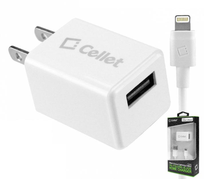 Lightning USB 5W Power Adapter Foldable Blades White
