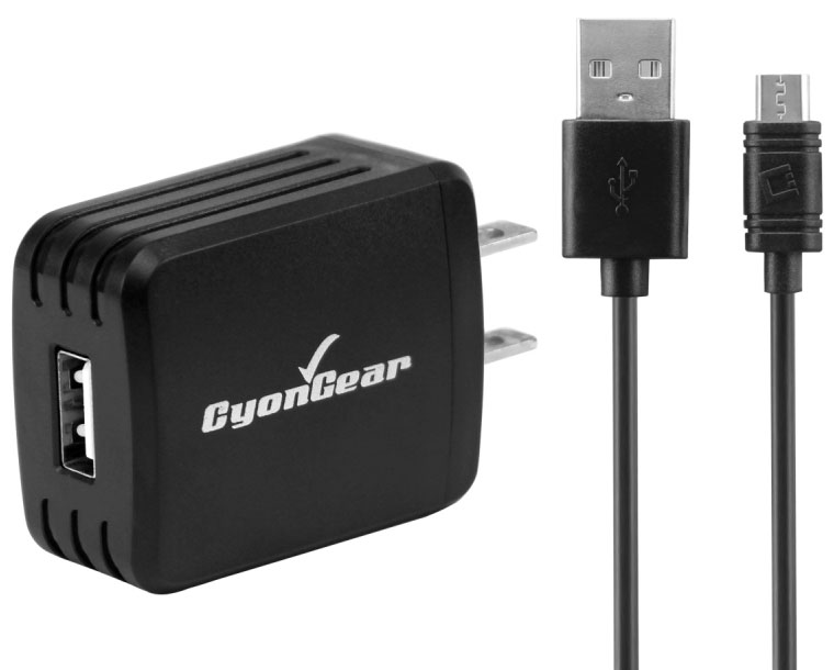 LG A340 10 Watt Wall USB Charger Data Cable Black