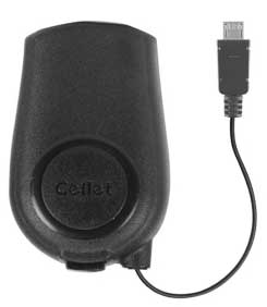 LG A340 Retractable High Current Wall Charger Black