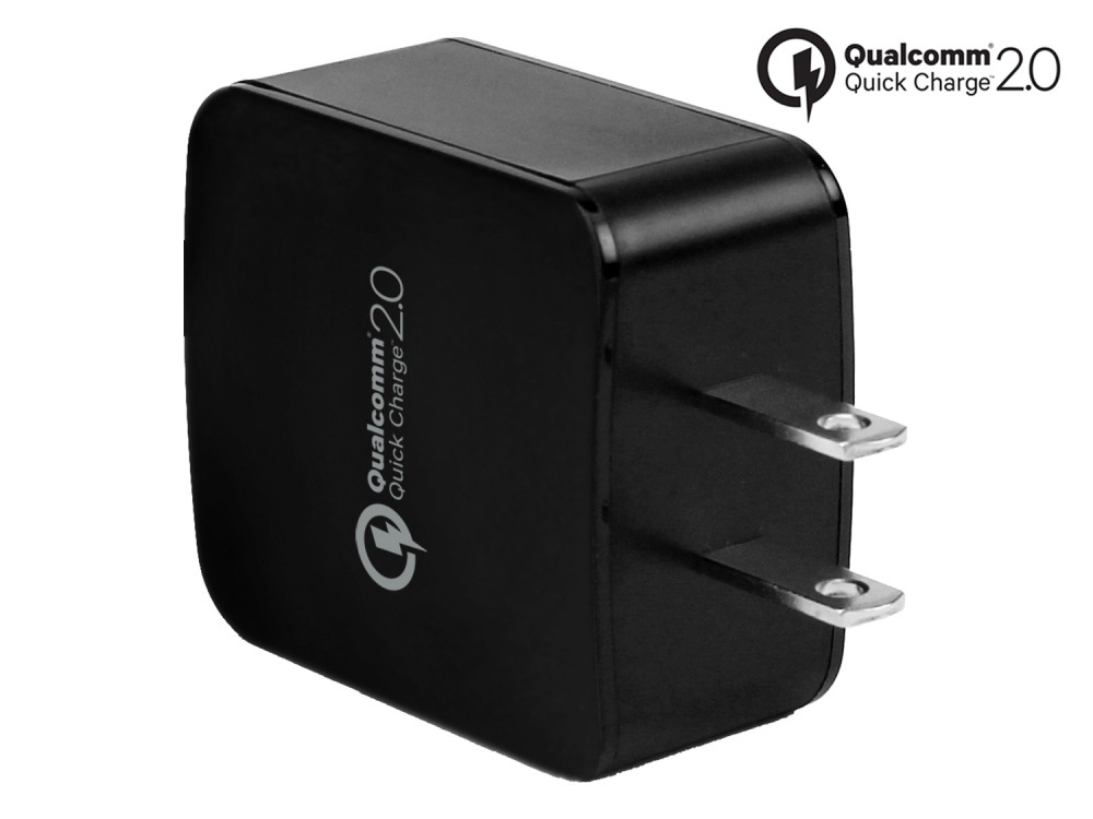 Kyocera Hydro Reach Qualcom Cert Quick Charge 3.0 Wall Charger Black